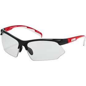 UVEX Sportstyle 802 V Briller, sort/rød